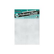 Perforated Plastic Canvas 14 Count 20cm - 1.3cm x 28cm 2/Pkg-Clear