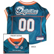 Pets First MDJ-L Miami Dolphins NFL Dog Jersey - Large