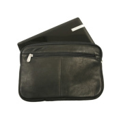 Piel Leather 2931-BLK Mini Zip Laptop Sleeve - Black