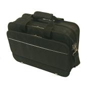 Bond Street 466001BLK Black Ballistic Nylon Long Wear Laptop Briefcase