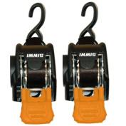 CargoBuckle Mini G3 Retractable Ratchet Tie-Down - 2.5cm x 180cm Pair