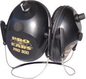 Pro Ears Electronic Hearing Protection Pro 300, NRR 26, Black Behind Head