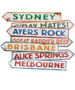 Beistle - 55340 - Australian Street Sign Cutouts- Pack of 12