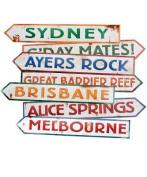 Beistle - 55340 - Australian Street Sign Cutouts- Pack of 12