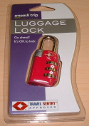 Talus SmoothTrip ST-LK8003-RRRED TSA Approved 3 Dial Combo Lock - Rubine Red