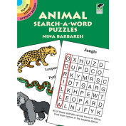 Dover DOV-42767 Dover Publications-Animal Search-A-Word Puzzles Book