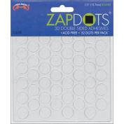 Helmar 120343 Zapdots 3D .13cm . Adhesive Rounds-Clear 52-Pkg