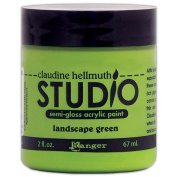 Ranger 60ml Claudine Hellmuth Studio Semi Gloss Acrylic Paint, Landscape Green
