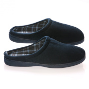 Living Healthy Products VVCC-910-blue 9-10 Vamp with Checked Cotton Fabric Lining Male Slippers