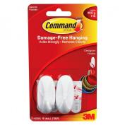3M Command Damage-Free Hanging Small Designer Hooks 2-pk.
