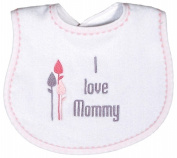 Dee Givens & Co-Raindrops 6225 I love Mommy Girl Small Bib - Pink