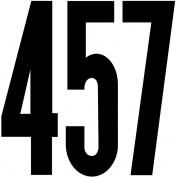 Permanent Adhesive Vinyl Numbers 15cm -Gothic/Black