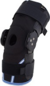 Body Sport BDSROMHKBLRG Body Sport Compression Airmesh Knee Brace with Range of Motion Hinges