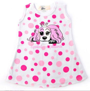 Puppy Luv Glam PLG1024_12-18 Pink Polka Dot Dress