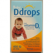 Ddrops 1072834 D Drops Liquid Vitamin D3 Baby - 400 IU - 0.08 fl oz