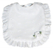 Dee Givens & Co-Raindrops 7400 Cotton Eyelet Bib-White bud - White