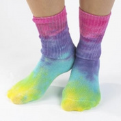 Maggies Functional Organics Socks Tie Dye Lite Crew Singles Size 9-11 221565