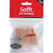 Armadillo Art& Craft 461090 Sofft Art Sponge 4-Pkg-Assorted
