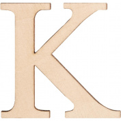 Walnut Hollow 14300-14310 Wood Letters and Numbers 1-1-5.1cm . 2-Pkg-K