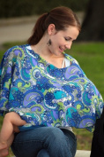 Reno Rose PRRMNS/M Ramon Small/Medium Pirose Motherhood Nursing Cover - Blue Paisley