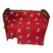 NCAA Alabama Tide 5 Piece Crib Bedding Set, 130cm x 70cm x 15cm , Crimson