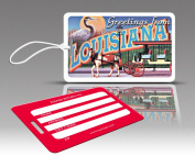 Insight Design 770709 TagCrazy Luggage Tags- Louisiana- Set of Three