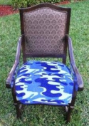 SpecialTex CS-DCSP-BL CAMO CleanSeat Dining Chair Protector BLUE CAMO