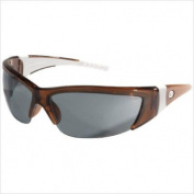 Crews FF222 ForceFlex 2 Safety Glasses with Translucent Brown Frame and Grey Lens, 1 Pair