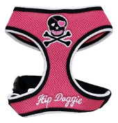 Hip Doggie HD-6PSH-XS Extra Small Pink Skull Mesh Harness Vest