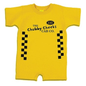 Redsnapper Baby 31812-YW-18 Size 18 Month Chubby Cheeks Cab Romper - Yellow
