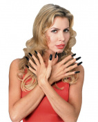 Rubies Costume Company Womens Deluxe Black Fingernail Kit