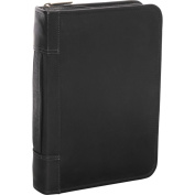 David King& Co 618B 7 in. x 10 in. Zippered 3 Ring Agenda with Handle- Black