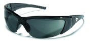 Crews FF212 ForceFlex 2 Safety Glasses with Black Frame and Grey Lens, 1 Pair
