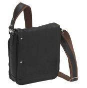 Piel Leather 2883-BLK Flap-Over Carry-All - Black