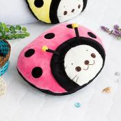 Blancho Bedding TB-CB005-PINK-39.4by59.1 Sirotan - Ladybug Pink Blanket Pillow Cushion / Travel Pillow Blanket