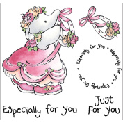 Crafters Companion HUMST-JUST Humphreys Corner EZMount Cling Stamp Set 12cm . x 12cm .-Just For You
