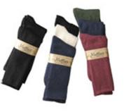 Maggies Functional Organics Socks Black/Natural/Navy Crew Tri-Packs Size 9-11 211513
