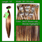 Brybelly Holdings PRST-14-427 No. 4-27 Dark Brown with Godlen Blonde Highlights - 36cm