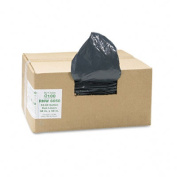 Earthsense Commercial RNW6050 Can Liners-  208.2-227.1l 1.25mil- 38 x 58- Black- 100/Carton