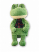 38cm Tall Stylish Plush Frog Backpack Carrying Case for Small Children