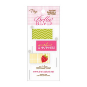 Sunshine & Happiness Stick Pin Paper Flags 3/Pkg