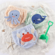 Baby Aspen BA15024MD Beach Bums 3-Piece Nappy Cover Gift Set - 6-12 Months