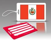 Insight Design 770577 TagCrazy Luggage Tags- Peru Flag- Set of Three