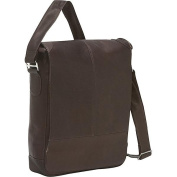 Piel Leather 2875-CHC Urban Vertical Messenger Bag - Chocolate