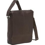Piel Leather 2875-CHC Urban Vertical Messenger Bag - Chocolate