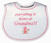 Dee Givens & Co-Raindrops 6439 Everything is Better at Grandmas Small Bib - Strawberry