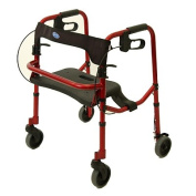 Invacare 65100R-JR Rollite Junior Rollator Electric Red Colour : 140kg Capacity