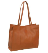 Piel Leather 2507 Carry-All Market Bag - Saddle
