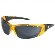 Crews FF232 ForceFlex 2 Safety Glasses with Translucent Yellow Frame and Grey Lenses, 1 Pair