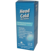 Natra-Bio 0254102 Head Cold Non-Drowsy - 1 fl oz